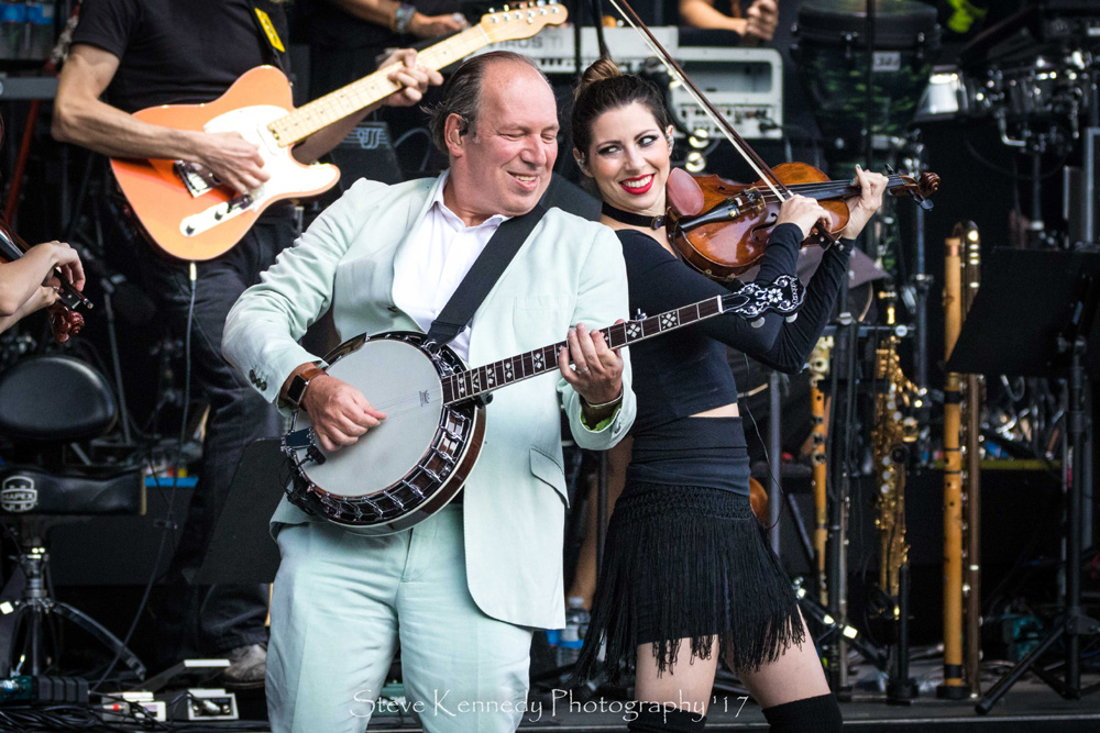 Backed by a rock group, an orchestra and a choir, Hans Zimmer performed his inspired movie compositions at the Santa Barbara Bowl on Sunday.