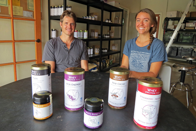 Word of mouth is spreading about Mattole Valley Naturals, a Santa Barbara company run by business partners Blaine Lando and Maressa Garner that makes a variety of superfood and high-protein products.