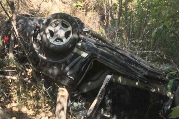 The driver didn't make it but the passenger did. (Santa Barbara County Fire Department photo)