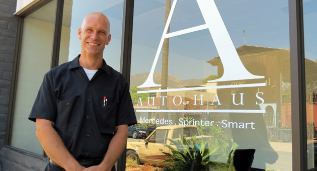 <p>Goleta resident Brian Termond has opened an auto-repair shop in downtown Santa Barbara, specializing in work on Mercedes vehicles. Autohaus is working on its first cars this week in the former home of Ben&#8217;s Transmission at 218 Palm Ave.</p>