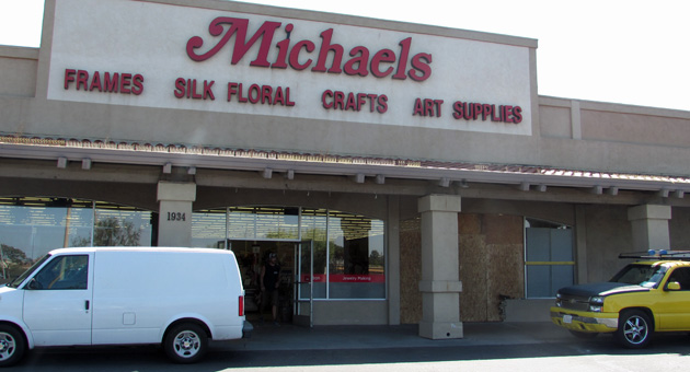 <p>A driver crashed into the Michaels store at 1934 S. Broadway Wednesday night and left major damage.</p>