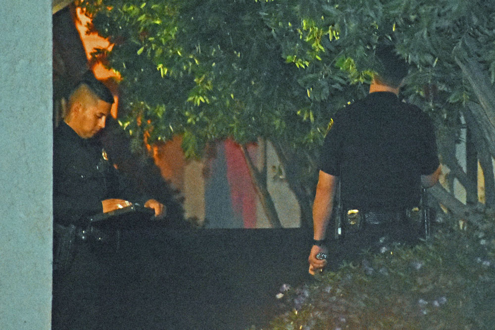 Santa Maria police officer investigate Monday night after a woman was killed, apparently shot to death, on the 200 block of College Drive.