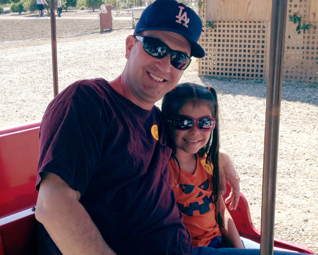 <p>Dan Ayala and his 8-year-old daughter, Brooklyn, are regular volunteers for the Foodbank of Santa Barbara County.</p>