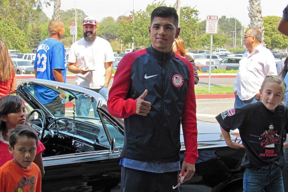Santa Maria boxer Carlos Balderas, who turns 20 Wednesday, returns home Tuesday from the Rio Olympic Games after reaching the quarterfinal round.