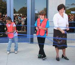 Brandon School in Goleta marks the opening of its new Multipurpose Room with a ribbon-cutting ceremony on Monday.