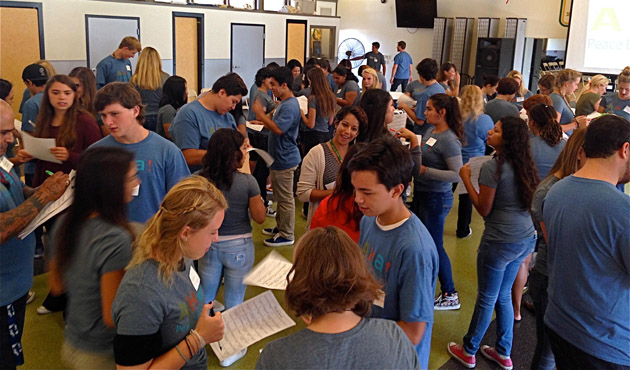 <p>Peace Builders Initiative student ambassadors will work throughout the school year at both Santa Barbara and San Marcos high schools to stop bullying and spread acceptance.</p>