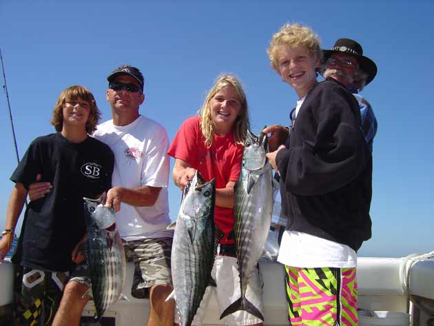 With school starting, weekends are time for family fishing.