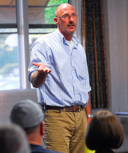 Pacific Pride Foundation Executive Director David Selberg, speaking at Wednesday night's town hall, said that in the past month, California lost $82 million in HIV/AIDS programs funding