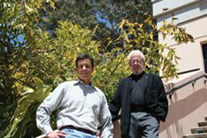 UCSB professors Guillermo Bazan, left, and Alan Heeger, whose work is at the core of Sirigen Group Limited.