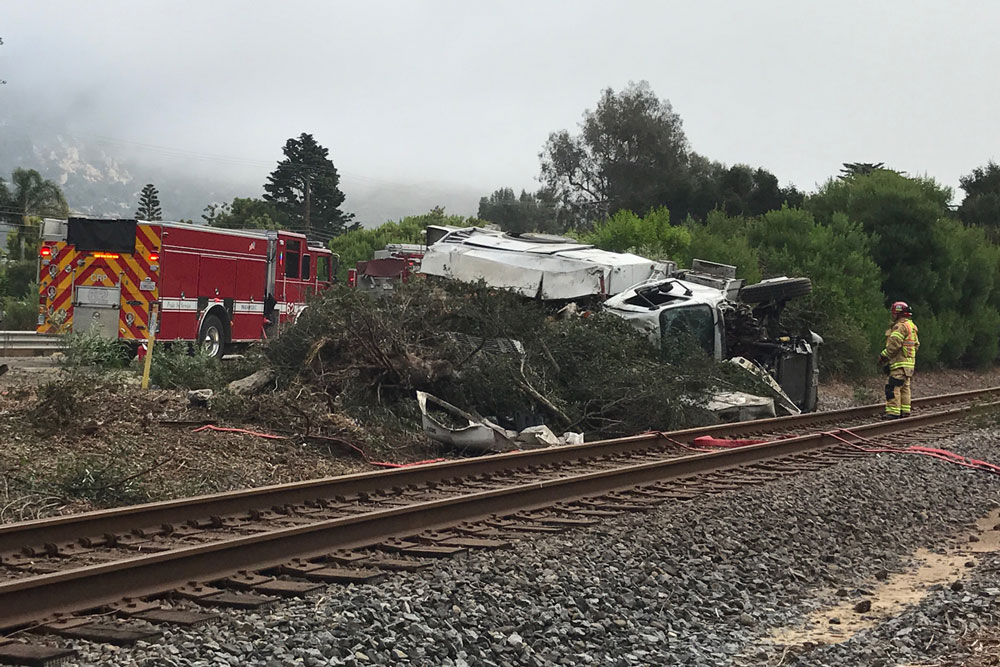 Crash Ties Up Southbound Traffic on Highway 101 in
