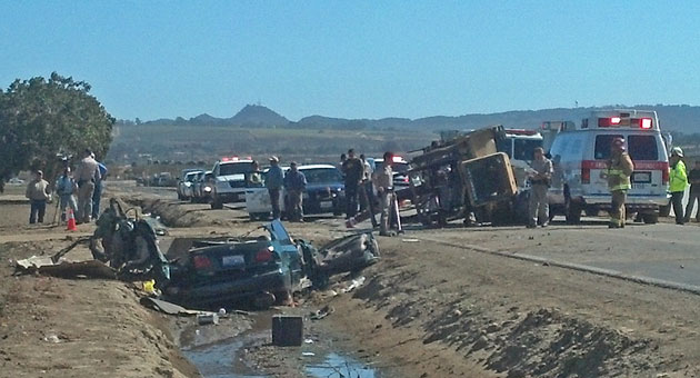 <p>A 37-year-old Santa Maria man has been arrested on manslaughter charges stemming from a Thursday crash that killed two people and seriously injured two others east of Santa Maria.</p>