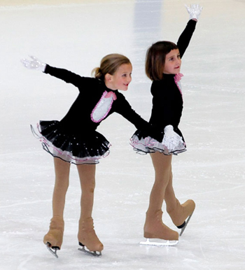 For children who fall in love with the competitive side of ice skating, the Ice in Paradise program offers classes through the Academy level.