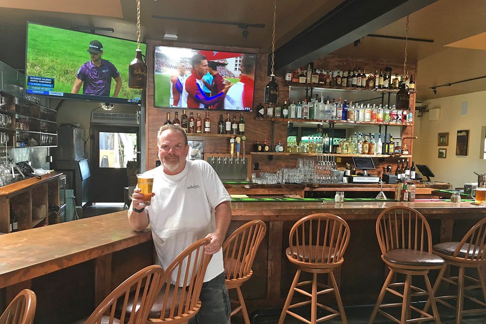 Owner Pete Johnson is excited about the re-opening of the Santa Barbara Brewhouse after fire damage caused a four-month closure.