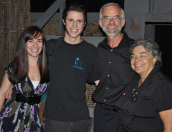 Music director Eleni Pantages, left, acting coach Gary Fields, director Radu Azdril and costume director Marian Azdril helped guide the Showstoppers Theatre production of Les Misérables