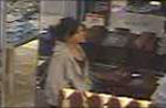The female suspect inside the Macy's department store
