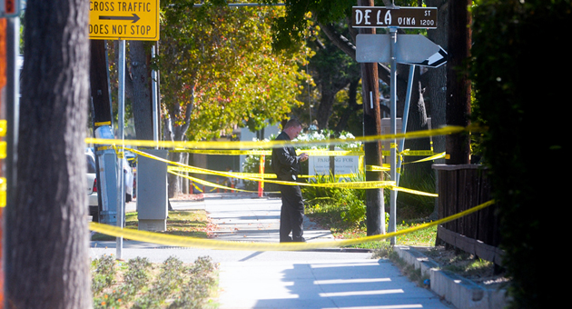 Santa Barbara police are investigating a fatal officer-involved shooting that happened Sept. 1 near the intersection of De la Vina and Victoria streets. (Lara Cooper / Noozhawk photo)