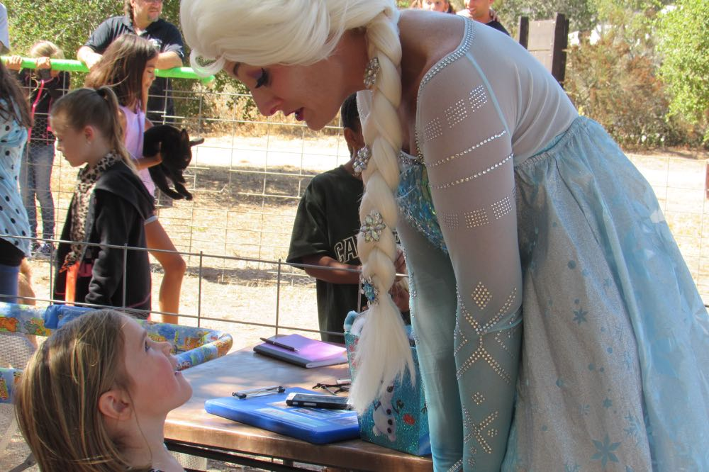A young festival goer is in awe at the chance to meet Elsa the princess from the Disney movie, <em>Frozen</em>, during Saturday's Santa Barbara County Local Fest in Lompoc.