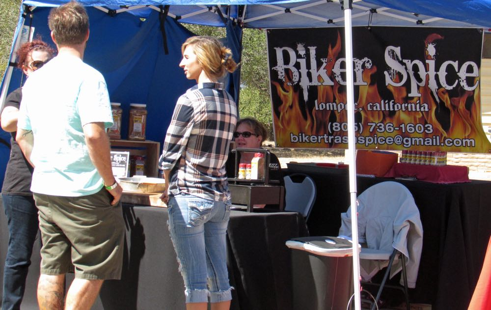 Bikertrash Spice Co. of Lompoc is one of the local vendors set up during the Santa Barbara County Local Fest.