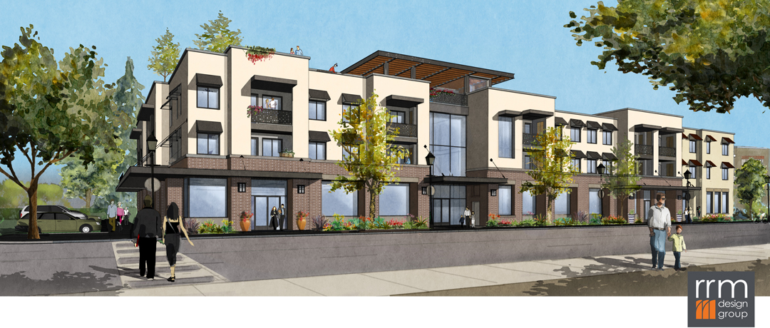 6e6db4370522b A 76-unit rental housing project is planned on the site of the Capitol  Hardware store on North Milpas Street, shown in a design rendering here.
