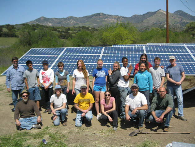 <p>As of 2011, 20 percent of the electricity needs at Midland School in Los Olivos have been met with grid-tied, student-installed solar arrays.</p>