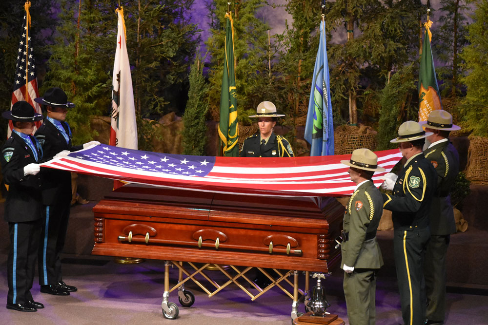 Pacific Christian Center in Orcutt was packed with family, friends and firefighters paying tribute and their last respects to Los Padres National Forest fire Battalion Chief Gary Helming, a 22-year U.S. Forest Service veteran, husband and father of three.