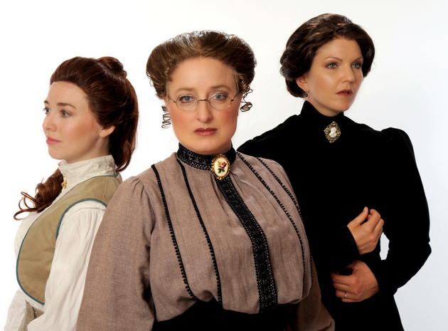 <p>Natasha Harris, left, Elizabeth Stuart and Stephanie Philo star as the eponymous trio in PCPA Theaterfest&#8217;s <i>Three Sisters</i>.</p>