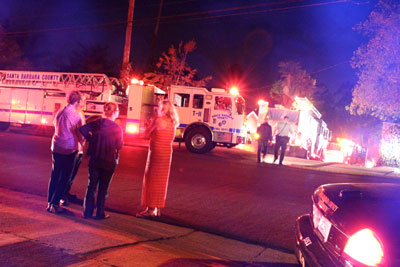Firefighters Responded To A Structure Fire Sunday Night On