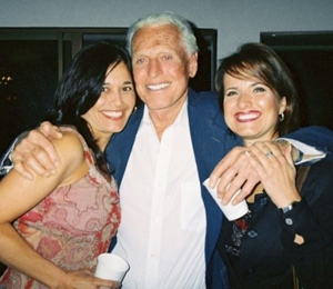 R.P. Richards, center, with Irene Robles and Patty Engel.