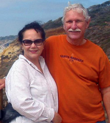 UCSB geologist and author Edward Keller with his wife,<br /> Valery Rivera Keller