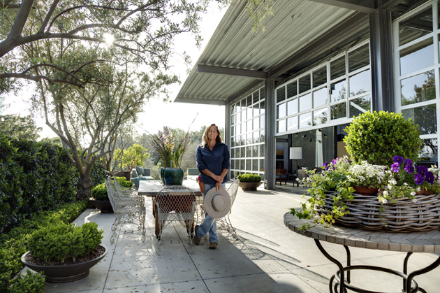 Deborah Shaw, owner of Deborah Shaw Restoration & Landscape, worked with a team to design and build this Santa Barbara Beautiful award-winning home on Ladera Lane.