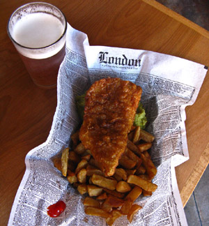 Mac's Fish & Chip Shop serves only sustainable Alaskan cod in its classic fish and chips dish.