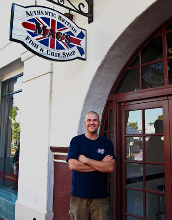 Grant MacNaughton, owner of Mac's Fish & Chip Shop on State Street in Santa Barbara, says the restaurant chose to be sustainable to because it's the right thing to do.