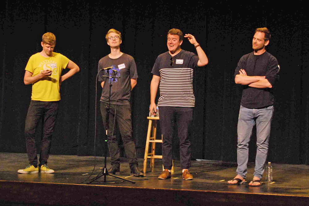 Sweden-based The Ringmasters entertained students at Dos Pueblos High School in Goleta on Wednesday with their a cappella singing style.