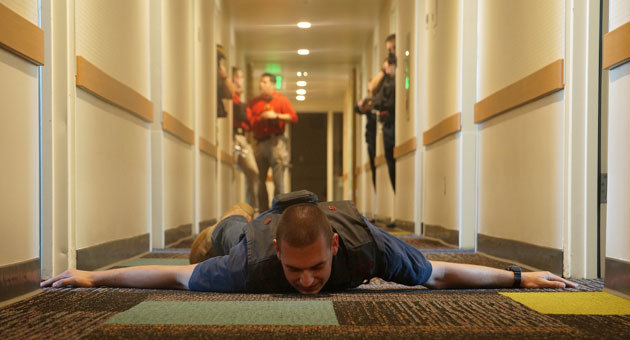 role playing helps add realism to the active shooter drills ucsb public affairs photo