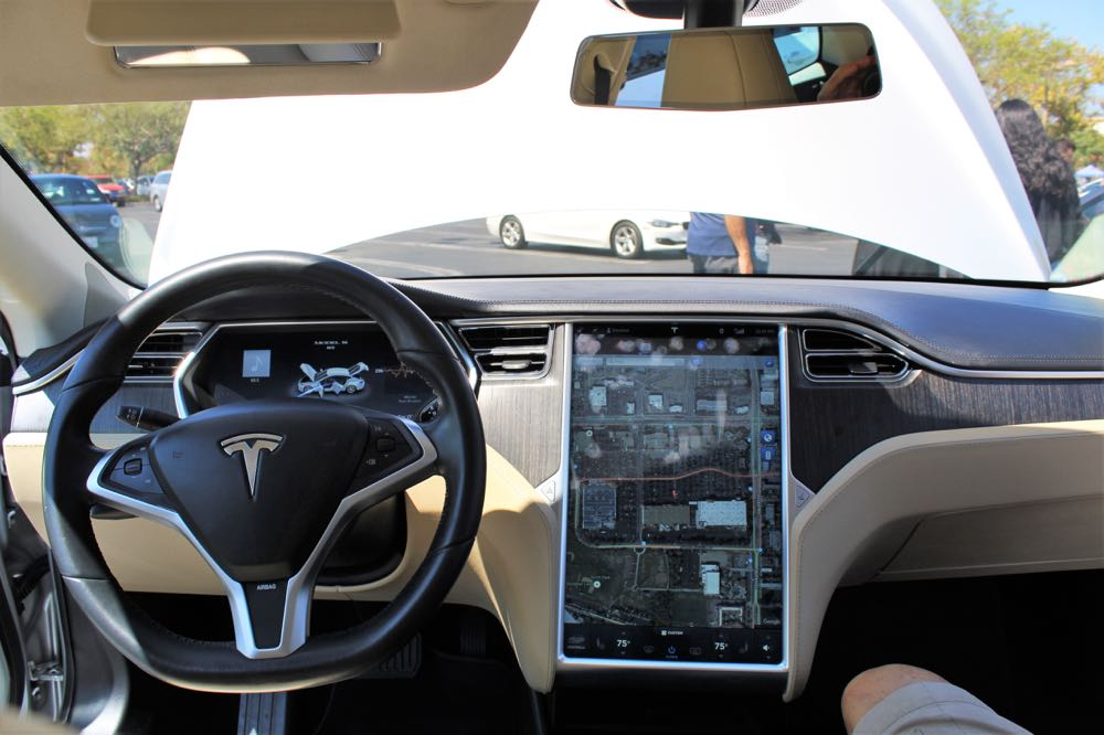 Nearly every control in Tesla's Model S is on its dashboard screen.