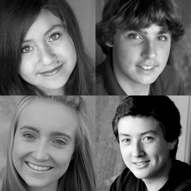The Santa Barbara Teen News Network students responsible for producing more than two dozen public service videos for Noozhawk's Prescription for Abuse project are, clockwise from top left, Ashley Almada, Billy Spencer, Garrett Geyer and Hailey Sestak.