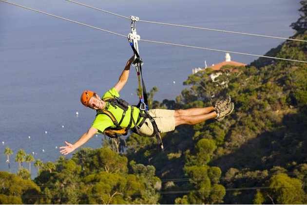 The Catalina Zip Line Eco Tour is one of many outdoor adventures awaiting visitors to Santa Catalina Island.