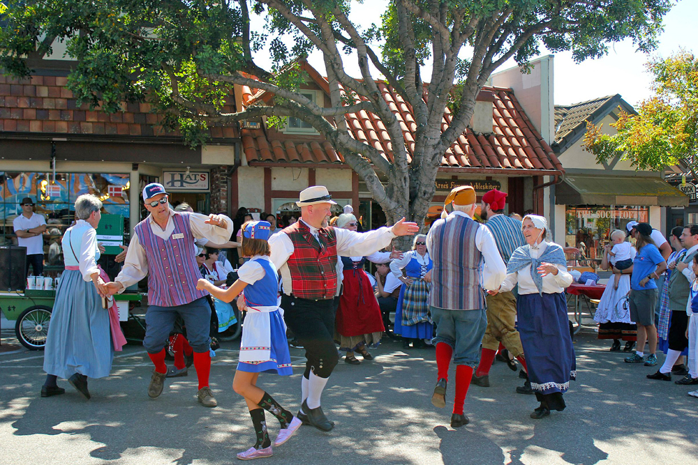 Dancers take over the streets during a recent Solvang Danish Days celebration.