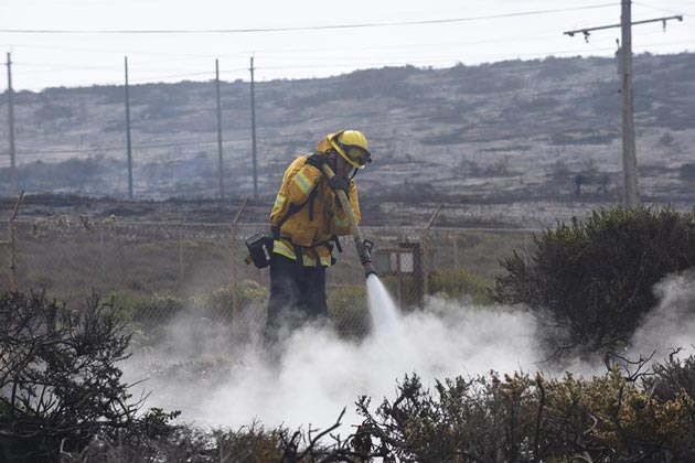 At the peak of the Canyon Fire that burned Vandenberg Air Force Base, more than 1,050 firefighters from 50 agencies were assigned to fight the blaze.