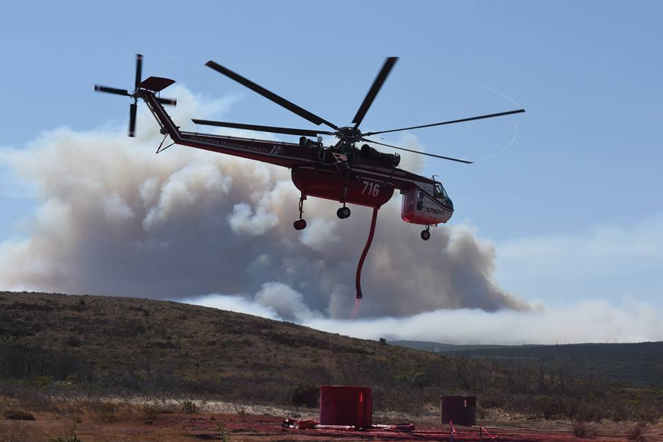 Firefighting crews work on containing the 12,500-acre Canyon Fire burning on south Vandenberg Air Force Base.