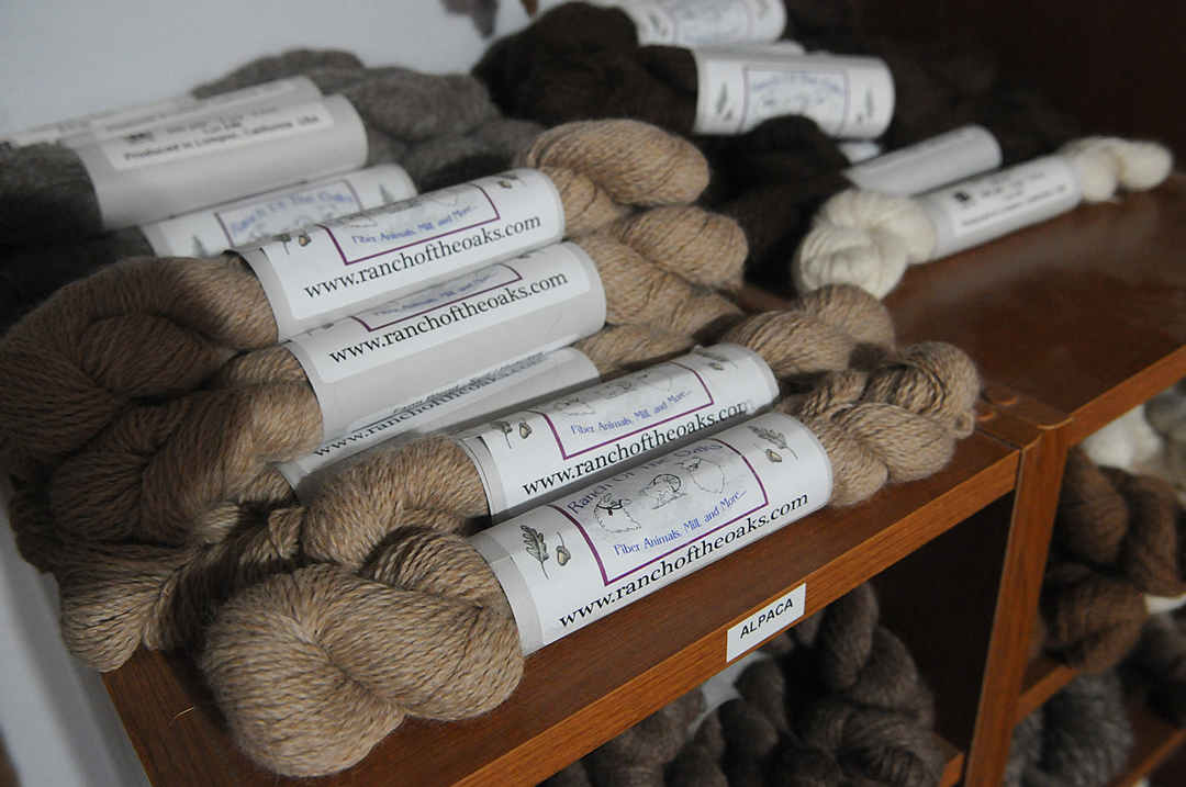 Ranch of the Oaks owners Tom and Mette Goehring operate a fiber mill, where alpaca fleece and other materials are made into yarn.