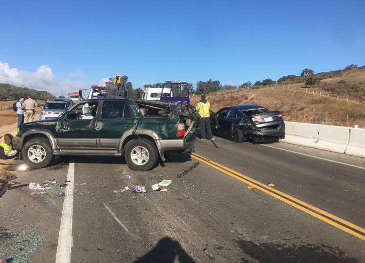 The California Highway Patrol is investigating a Highway 246 crash that injured one person Thursday morning.