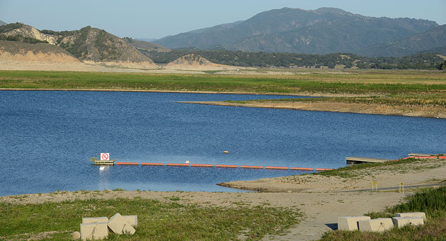Comb concerned with water release for fish from lake for Cachuma lake fishing