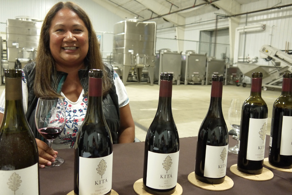 Winemaker Tara Gomez pours through Kitá Wines' current lineup at the Lompoc winery.