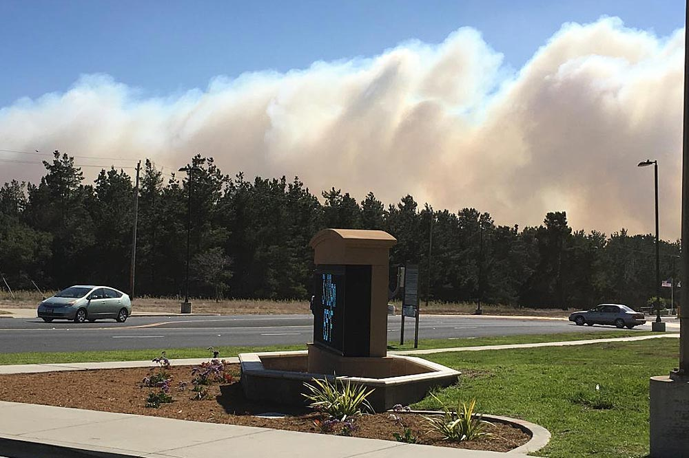 The Washington Fire burns on north Vandenberg Air Force Base the same time crews work to contain the south base Canyon Fire.