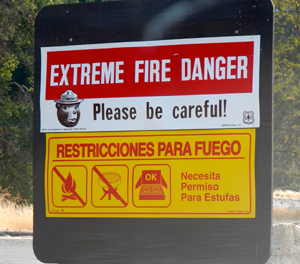 There are strict prohibitions against open fires in the Paradise Road camping area.