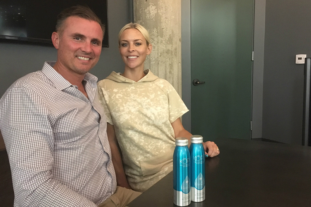 Justin and Mindy Mahy started KOPU, a New Zealand-sourced sparkling water company, in August. The bottles are for sale at high-end markets throughout the Santa Barbara area.