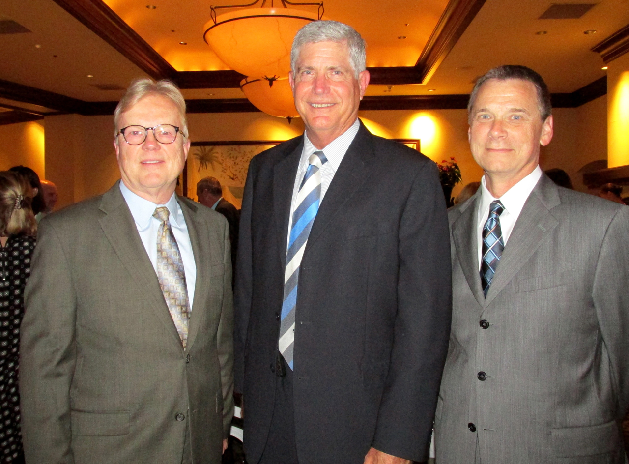 Edmund Wroblewski, M.D., left, Cottage Health System CEO Ron Werft and COO Steven Fellows.