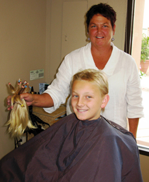 Laguna Blanca sixth-grader Spencer Rycroft says watching his grandmother lose her hair while going through chemotherapy inspired him to donate his hair to Locks of Love, which supplies wigs for cancer patients.