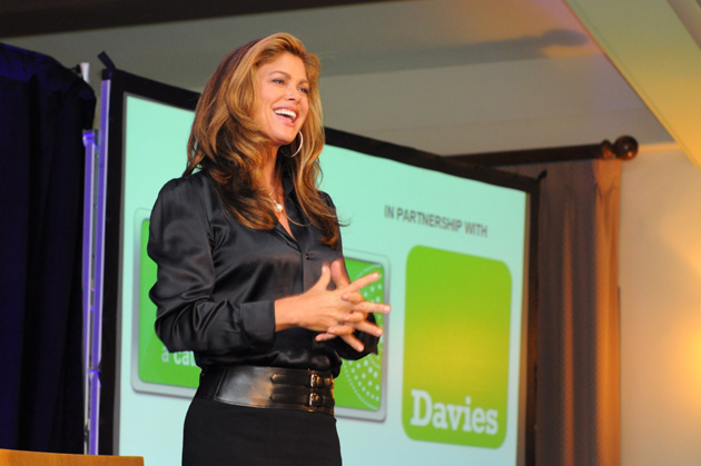<p>Kathy Ireland, seen speaking at the Catalyst for Thought event last September, will be the featured speaker March 9-10 at the International Women&#8217;s Festivals at SBCC.</p>